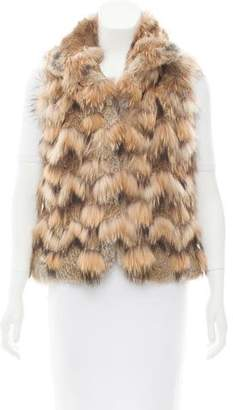 Theory Chevron Fur Vest