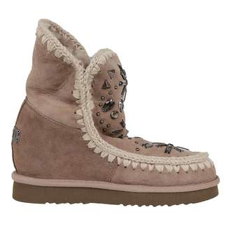 Mou Embellished Ankle Boots