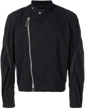 Issey Miyake Homme Plissé classic biker jacket