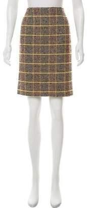 Valentino Wool Plaid Skirt
