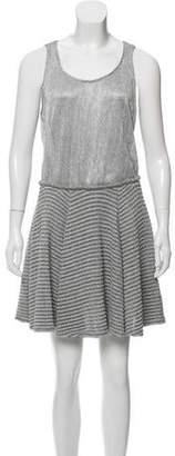 Jay Ahr Metallic A-Line Dress