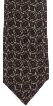 Chanel Geometric Print Wool Tie multicolor Geometric Print Wool Tie