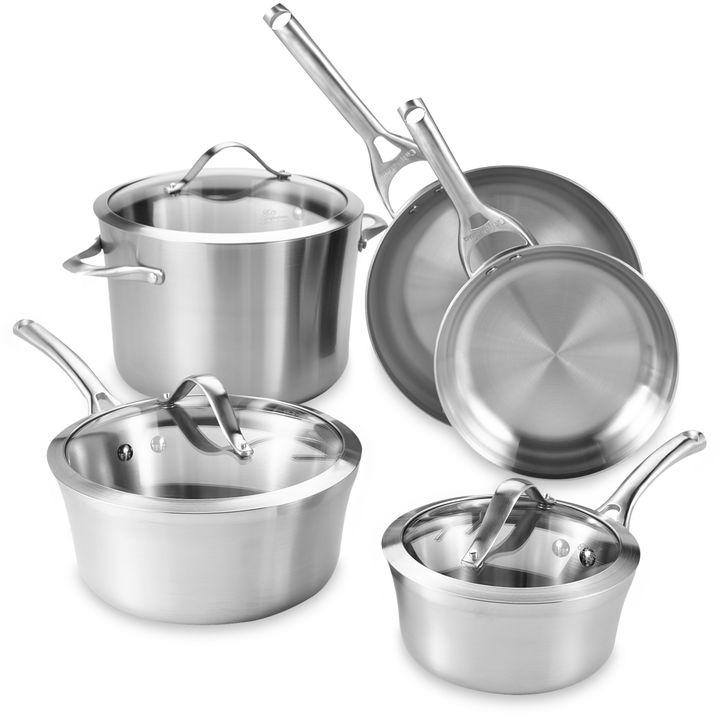 Calphalon Contemporary Stainless Steel 8-Piece Cookware Set