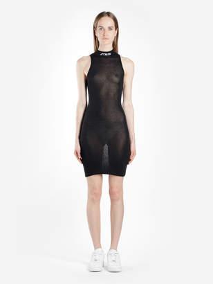 Black Sleeveless Turtleneck Dress