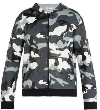 Valentino Camouflage Print Hooded Sweatshirt - Mens - Grey
