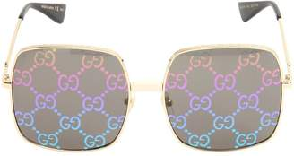 Gucci Large Round Gg Lens Sunglasses