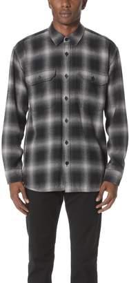 Vince Men's Ombre Buffalo Plaid Overshirt, Grey
