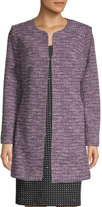 Karl Lagerfeld Paris Textured Long-Sleeve Topper