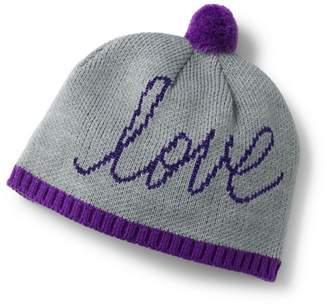 Lands' End - Girls' Grey Graphic Beanie Hat