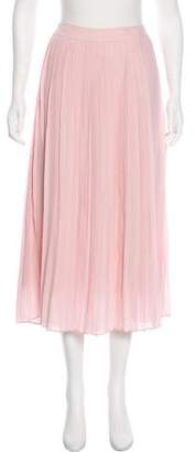 Anine Bing Silk Midi Skirt