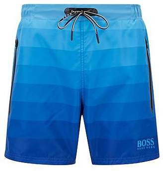 HUGO BOSS Quick-dry swim shorts with dégradé print and zipped pockets