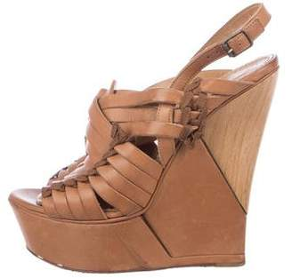 Lanvin Platform Wedge Sandals
