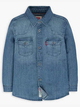 Levi's Toddler Boys 2T-4T Barstow Western Shirt Chambray 3T