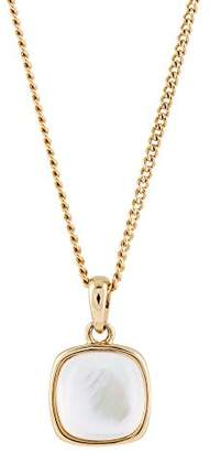 Mother of Pearl Buckley London Women's Chain with Pendant Brass Cream Rectangular Cutting 45 cm – 430040030