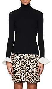 Valentino Women's Bell-Cuff Rib-Knit Top - Black