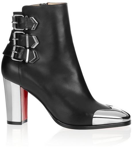 Christian Louboutin Chelita 85 metal-detailed leather boots