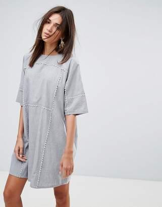 YMC Scalloped Edged Cotton Shift Dress
