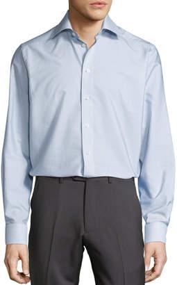 Eton Geometric-Print Button-Front Shirt, Navy