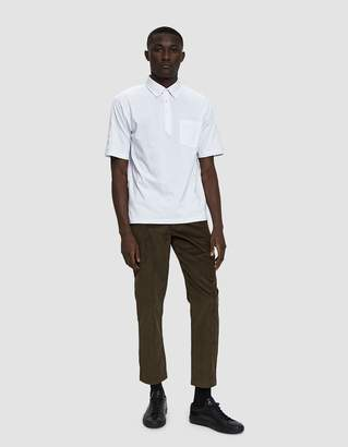 Need Panel Polo Shirt in White