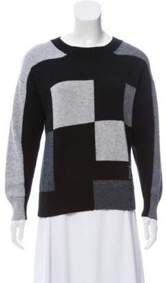 Christian Dior Patterned Crew Neck Sweater Grey Patterned Crew Neck Sweater