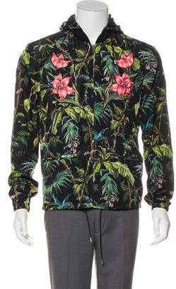 Gucci Hooded Floral Jacket