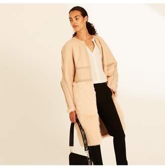 Amanda Wakeley Copper Shearling Reversible Coat