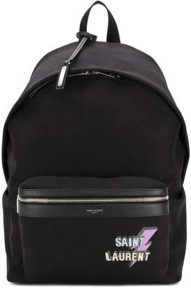 Saint Laurent logo-print backpack