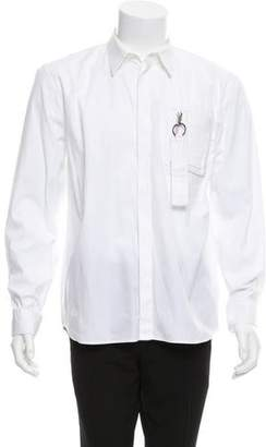 Givenchy Zip-Accented Button-Up Shirt