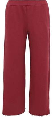Simon Miller Canal Cropped French Cotton-Terry Track Pants