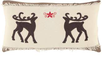 Rizzy Home Reindeer Duo Oblong Throw Pillow