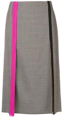 Marco De Vincenzo gingham slit detail skirt