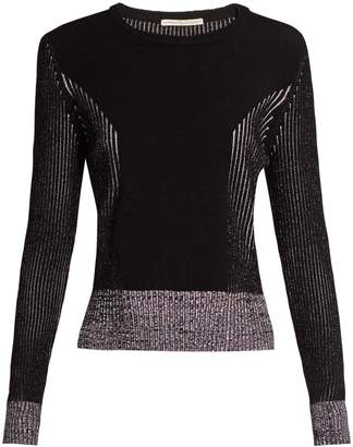 Marco De Vincenzo Long-sleeved ribbed-knit sweater