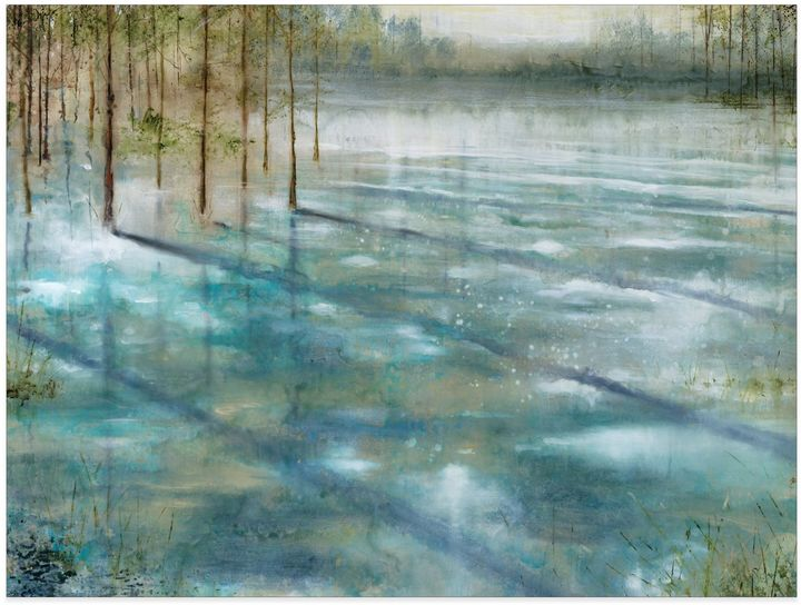Bed Bath & BeyondWater Trees Canvas Wall Art