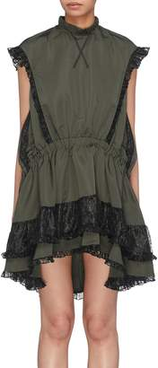 Sandy Liang 'Libby' ruffle lace trim sleeveless dress