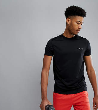 Asos 4505 Tall T-Shirt With Quick Dry In Black