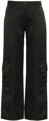 Wales Bonner high waisted wide-leg cargo trousers