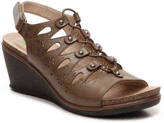 Women's Wedge Sandal -Brown $89 thestylecure.com