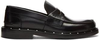 Valentino Black Garavani Studded Moccasin Loafers