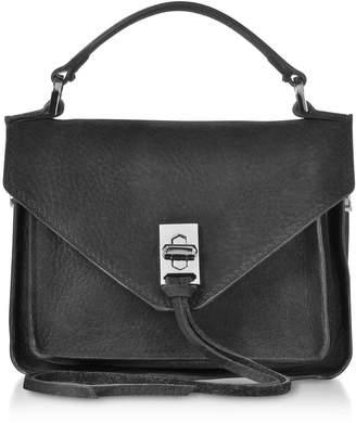 Rebecca Minkoff Black Nubuck Leather Mini Darren Messenger Bag