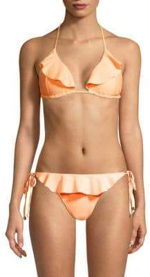 Shoshanna Ruffled Triangle Bikini Top
