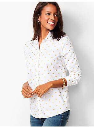 Talbots Classic Cotton Shirt - Foil Dot