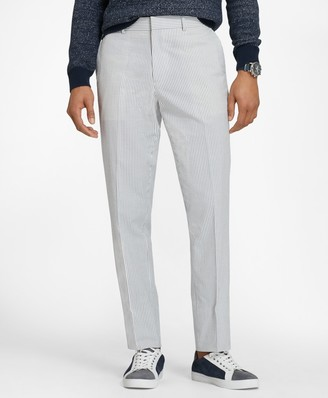 Brooks Brothers Cotton Seersucker Trousers