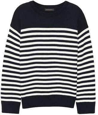 Banana Republic Washable Merino Wool Blend Mariner Stripe Sweater