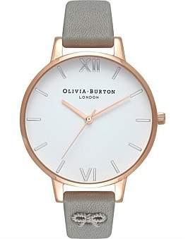 Olivia Burton Embellished Strap Vintage Bow Watch