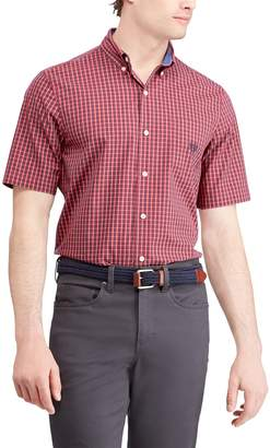 Chaps Big & Tall Classic-Fit Plaid Poplin Button-Down Shirt