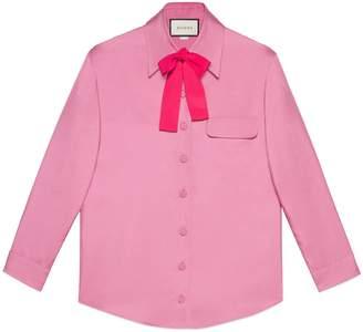 Gucci Silk bow shirt