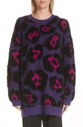 Marc Jacobs Leopard Spot Wool Blend Sweater