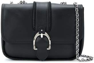 Longchamp foldover buckle shoulder bag