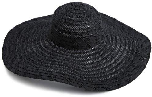 Jessica Simpson Women's Ribbon Braided Floppy Hat