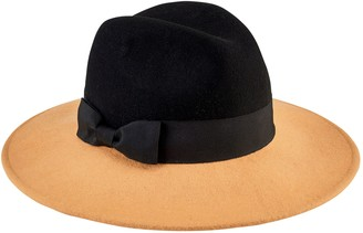 Co San Diego Hat Color Blocked Fedora with Bow